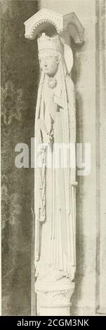 . Paris and its story, by T. Okey; illustrated by Katherine Kimball & O. F. M. Ward . I3TH Centuuy Sculptures from St. Denis (Restored). - Stock Photo