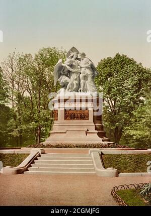 Strassburger Denkmal, Franco-Prussian War 1870-1871 Commemoration, , Basel, Basel-Stadt, Switzerland  1890.