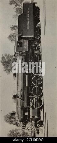 . Baltimore and Ohio employees magazine . First Standardized U. S. Locomotive Comesto Baltimore and Ohio Railroad - Stock Photo