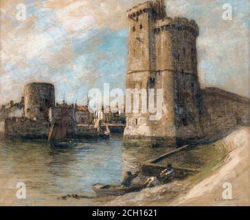 Lhermitte Leon Augustin - Entrée Du Port De La Rochelle - French School - 19th and Early 20th Century - Stock Photo