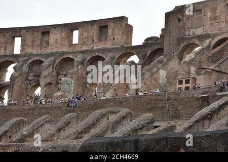 Colosseum in Rome, Italy, is the largest ancient amphitheatre ever built and the world's largest standing amphitheater