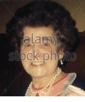 Handout picture of Peggy Weir, a 93-year-old widow, who was stabbed to death in her home on Christmas Eve 2004. A man was arrested in connection with the death of the widow in her home . - Stock Photo