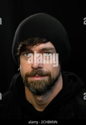 Jack Dorsey, co-founder of Twitter and fin-tech firm Square, sits for a portrait during an interview with Reuters in London, Britain, June 11, 2019. REUTERS/Toby Melville - Stock Photo