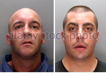 Undated Merseyside Police handout photo of Carl Higgins (left) and Simon Ignacio, who have been jailed over a planned arson attack in which a military hand grenade was left outside football hero Kenny Dalglish's home. - Stock Photo