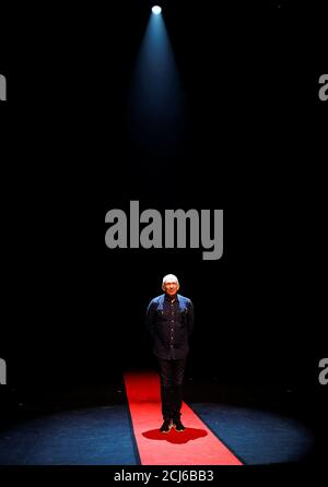 Designer Jean Paul Gaultier poses for a photograph prior to the opening of 'Fashion Freak Show' at the Southbank Centre in London, Britain, July 23, 2019. REUTERS/Peter Nicholls