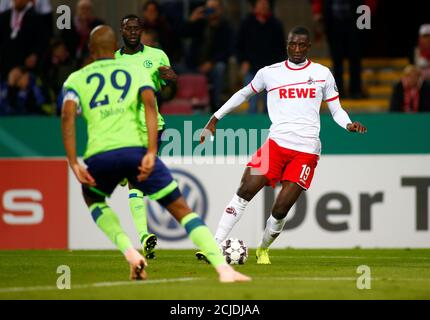 Soccer Football - DFB Cup Second Round - FC Cologne v Schalke 04 - RheinEnergieStadion, Cologne, Germany - October 31, 2018  FC Cologne's Serhou Guirassy in action  REUTERS/Thilo Schmuelgen  DFL regulations prohibit any use of photographs as image sequences and/or quasi-video