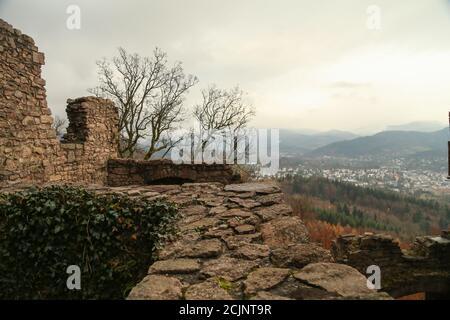 Hohenbaden castle in Baden-Baden, Germany