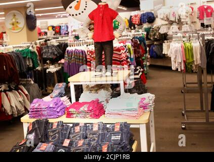 The kids section of the J.C. Penney Herald Square department store location is seen in New York November 27, 2012. The task at hand for Michael Fisher, Penney's chief creative officer in charge of how stores look, is to turn the 110-year-old department store chain into affordable fashion and home goods mecca. Photo taken November 27, 2012.  REUTERS/Shannon Stapleton (UNITED STATES - Tags: BUSINESS) - Stock Photo