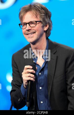 Comedian Dana Carvey performs during the SALT conference in Las Vegas, Nevada, U.S. May 17, 2017.  REUTERS/Richard Brian - Stock Photo