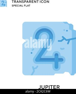 Jupiter vector icon. Flat style illustration. EPS 10 vector. - Stock Photo