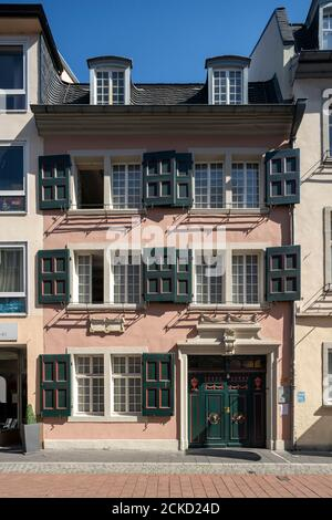 Bonn, Bonngasse 20, Beethoven-Haus, Geburtshaus von Ludwig van Beethoven, um 1700 - Stock Photo