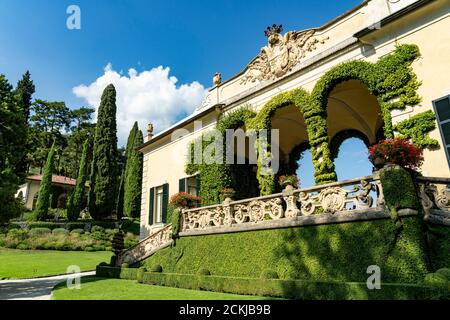 Italy. Lombardy. Lake Como. Around the village of Leno. The Balbianello villa on the Lavedo peninsula