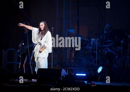 Napoli, Italy. 15th Sep, 2020. Elisa live at the Belvedere of San Leucio in Caserta. Elisa Toffoli is an Italian singer-songwriter, composer, multi-instrumentalist, musician and record producer. (Photo by Massimo Solimene/Pacific Press) Credit: Pacific Press Media Production Corp./Alamy Live News - Stock Photo