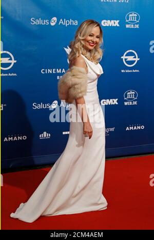 Actress Ornella Muti arrives for the 'Cinema for Peace 2012' charity gala during the 62nd Berlinale film festival in Berlin, February 13, 2012. REUTERS/Fabrizio Bensch (GERMANY  - Tags: ENTERTAINMENT) - Stock Photo