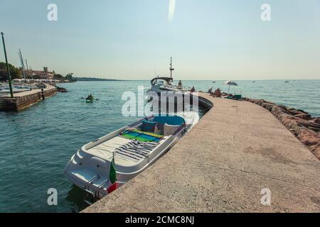 Port of Lazise on Garda Lake 13