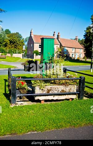 Village Green Water Pump, Upper Poppleton, North Yorkshire, England - Stock Photo