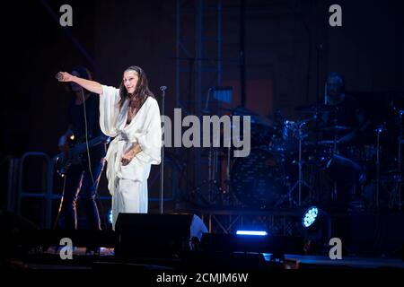Napoli, Italy. 15th Sep, 2020. Elisa live at the Belvedere of San Leucio in Caserta, Italy on September 15, 2020. Elisa Toffoli is an Italian singer-songwriter, composer, multi-instrumentalist, musician and record producer. (Photo by Massimo Solimene/Pacific Press/Sipa USA) Credit: Sipa USA/Alamy Live News - Stock Photo