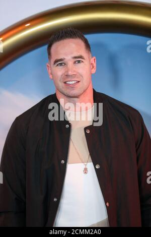 Reality TV star Kieran Hayler poses as he arrives to attend the UK premiere of 'Sonic the Hedgehog', in London, Britain January 30, 2020. REUTERS/Antonio Bronic - Stock Photo