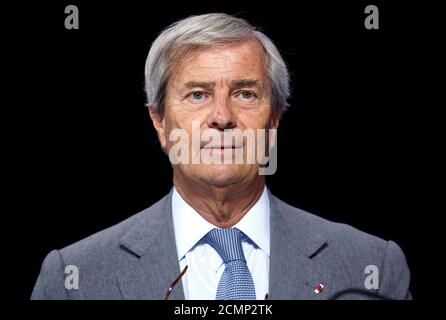 Vincent Bollore, Chairman of media group Vivendi attends the company's shareholders meeting in Paris, France, April 25, 2017.  REUTERS/Jean-Paul Pelissier - Stock Photo