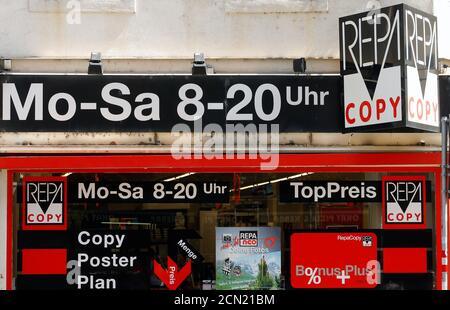 A Repa Copy shop is seen in Vienna, Austria, June 28, 2016. REUTERS/Heinz-Peter Bader