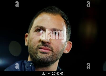 Soccer Football - DFB Cup Second Round - FC Cologne v Schalke 04 - RheinEnergieStadion, Cologne, Germany - October 31, 2018  Schalke coach Domenico Tedesco before the match   REUTERS/Thilo Schmuelgen  DFL regulations prohibit any use of photographs as image sequences and/or quasi-video