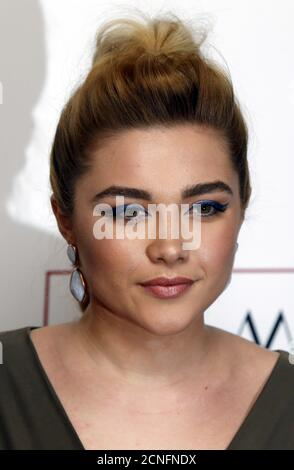 British actress Florence Pugh poses for photographers at the 36th London Critics' Circle Film Awards in London, Britain January 17, 2016. REUTERS/Neil Hall