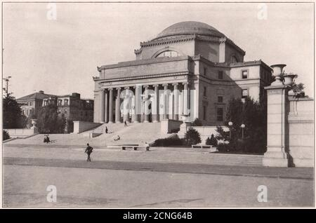 Columbia University: Library Building. New York. Low Memorial Library 1903 - Stock Photo