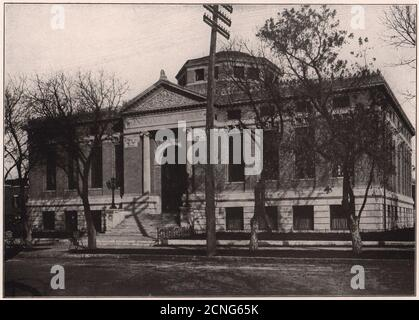 City Library Building, Lincoln, Nebraska. Nebraska 1903 old antique print - Stock Photo