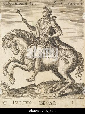C. Julius Caesar from Twelve Caesars on Horseback, c1565-1587. - Stock Photo