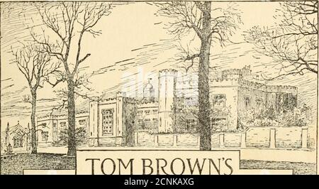 . Tom Browns school-days . P TOM BROWNS SCHOOL-DAYS BY AN OLD BOY(cflTomas Hitgr/ies) - Stock Photo