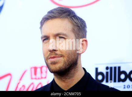 Musician Calvin Harris arrives at the 2015 Billboard Music Awards in Las Vegas, Nevada May 17, 2015. REUTERS/L.E. Baskow/File Photo - Stock Photo