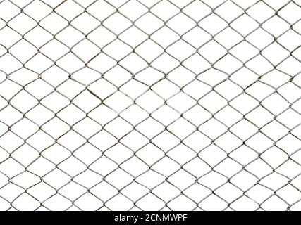 Iron wire net isolated on white background
