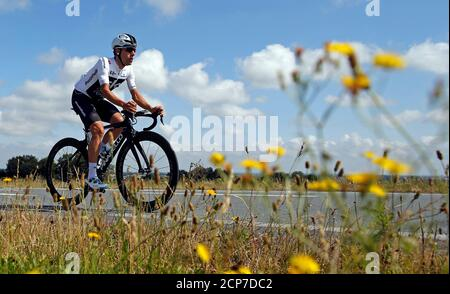 Cycling - Tour de France - Team Sky Training - July 6, 2018 - Team Sky rider Jonathan Castroviejo of Spain trains. REUTERS/Stephane Mahe - Stock Photo