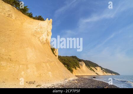 Chalk cliffs at Møns Klint on the island of Møn, Sjælland, Denmark Stock Photo