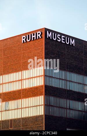 Ruhr Museum at Zeche Zollverein, Essen, Ruhr area, North Rhine-Westphalia, Germany - Stock Photo