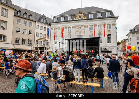 Bonn, North Rhine-Westphalia, Germany - Street festival with stage program at the Old Town Hall, Bonn, North Rhine-Westphalia, Germany - Stock Photo