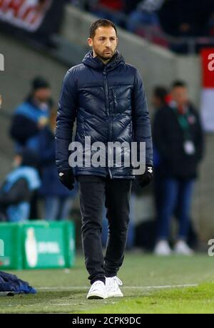 Soccer Football - DFB Cup Second Round - FC Cologne v Schalke 04 - RheinEnergieStadion, Cologne, Germany - October 31, 2018  Schalke coach Domenico Tedesco during the match   REUTERS/Thilo Schmuelgen  DFL regulations prohibit any use of photographs as image sequences and/or quasi-video