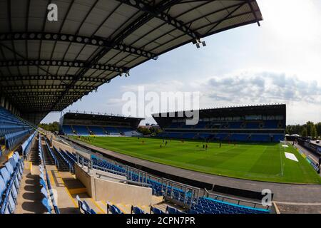 Oxford, UK. 19th Sep, 2020. A general view of the stadium before the Sky Bet League 1 behind closed doors match between Oxford United and Sunderland at the Kassam Stadium, Oxford, England on 19 September 2020. Photo by Nick Browning/PRiME Media Images. Credit: PRiME Media Images/Alamy Live News - Stock Photo