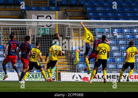 Oxford, UK. 19th Sep, 2020. The visitors with an early attack during the Sky Bet League 1 behind closed doors match between Oxford United and Sunderland at the Kassam Stadium, Oxford, England on 19 September 2020. Photo by Nick Browning/PRiME Media Images. Credit: PRiME Media Images/Alamy Live News - Stock Photo