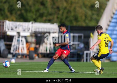 Oxford, UK. 19th Sep, 2020. Jordan Willis of Sunderland passes forward during the Sky Bet League 1 behind closed doors match between Oxford United and Sunderland at the Kassam Stadium, Oxford, England on 19 September 2020. Photo by Nick Browning/PRiME Media Images. Credit: PRiME Media Images/Alamy Live News - Stock Photo