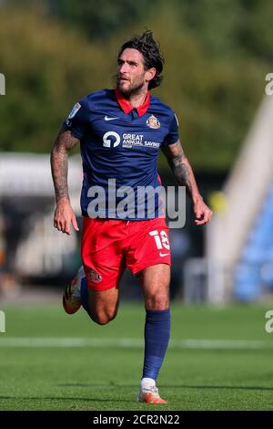 Oxford, UK. 19th Sep, 2020. Danny Graham of Sunderland during the Sky Bet League 1 behind closed doors match between Oxford United and Sunderland at the Kassam Stadium, Oxford, England on 19 September 2020. Photo by Nick Browning/PRiME Media Images. Credit: PRiME Media Images/Alamy Live News - Stock Photo