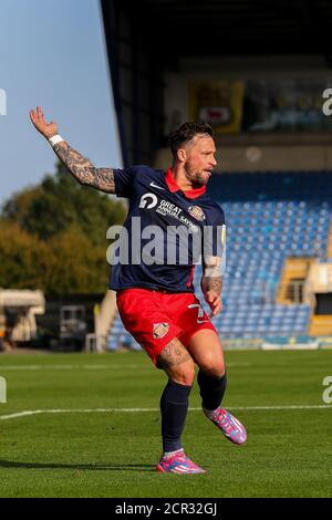 Oxford, UK. 19th Sep, 2020. Chris Maguire of Sunderland during the Sky Bet League 1 behind closed doors match between Oxford United and Sunderland at the Kassam Stadium, Oxford, England on 19 September 2020. Photo by Nick Browning/PRiME Media Images. Credit: PRiME Media Images/Alamy Live News - Stock Photo