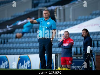 Blackburn, UK. 19th Sep, 2020. Manager Tony Mowbray during the Sky Bet Championship behind closed doors match between Blackburn Rovers and Wycombe Wanderers at Ewood Park, Blackburn, England on 19 September 2020. Photo by Andy Rowland. Credit: PRiME Media Images/Alamy Live News - Stock Photo