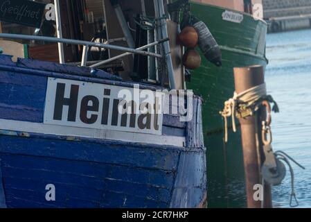Germany, Mecklenburg-Western Pomerania, Sassnitz, fishing cutter home, Ruegen island, Baltic Sea