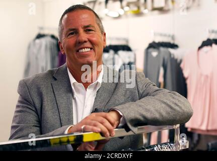 Michael Fisher, J.C. Penney Co Inc's chief creative officer, poses during an interview at their Herald Square department store location in New York November 27, 2012. The task at hand for Fisher is to turn the 110-year-old department store chain into affordable fashion and home goods mecca .  Photo taken November 27, 2012. REUTERS/Shannon Stapleton (UNITED STATES - Tags: BUSINESS) - Stock Photo