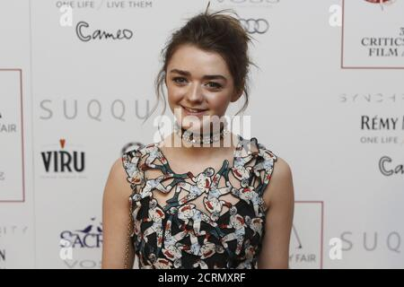 British actress Maisie Williams poses for photographers at the 36th London Critics' Circle Film Awards in London, Britain January 17, 2016. REUTERS/Neil Hall