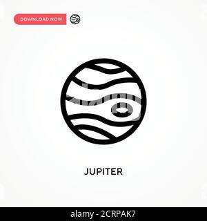 Jupiter Simple vector icon. Modern, simple flat vector illustration for web site or mobile app - Stock Photo