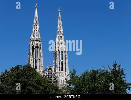 The spires of Votivkirche church are seen in Vienna, Austria, June 28, 2016. REUTERS/Heinz-Peter Bader