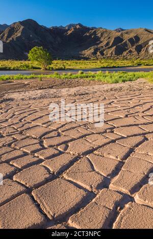 Landscape near San Juan, in the San Juan Province of Argentina, South America - Stock Photo