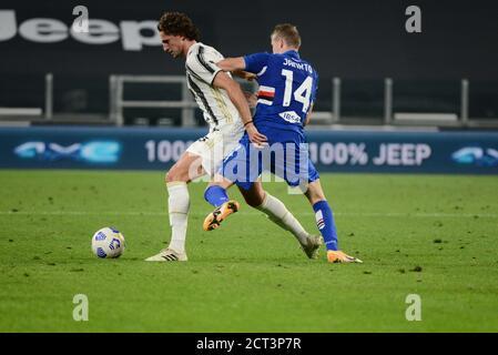 of Juventus FC during the Serie A football Match Juventus FC vs Sampdoria. Juventus won 3-0 over Sampdoria  at Allianz Stadium in Turin. - Stock Photo